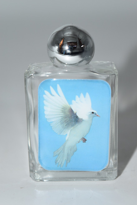 Peace Dove Glass Holy Water Bottle- 1pc- Empty Holy Water Bottle