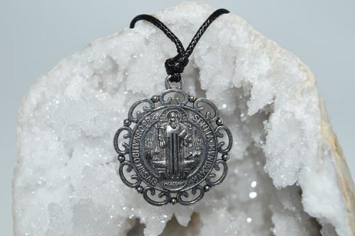 St. Benedict Pendant Necklace - Prayer Necklace - Necklace