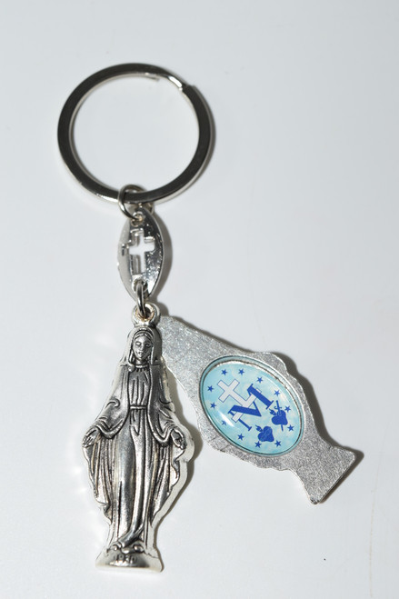 Sliding Open- Our Lady of Grace Keychain- Holy Keychain
