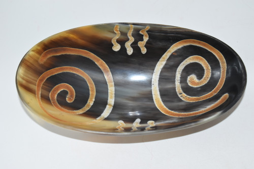 Buffalo Horn Carved Bowl- Offering Bowl,  Altar Supplies,Gift Giving