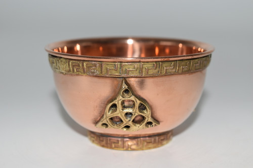 Copper Bowl- Triquetra- Offering Bowl,  Altar Supplies, Gift Giving