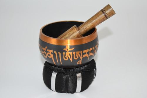 "3"" Tibetan Singing Bowl with Striker and Cushion- Altar Supplies"