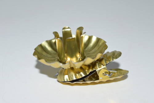 Gold Clip on Metal Chime Candle Holder 1 pc