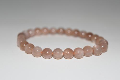 6-8mm Pink Moonstone Bracelet