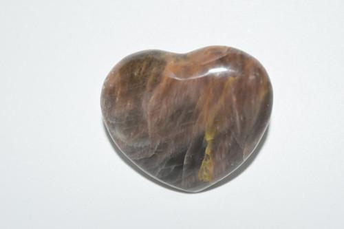 Black Moonstone Crystal Heart