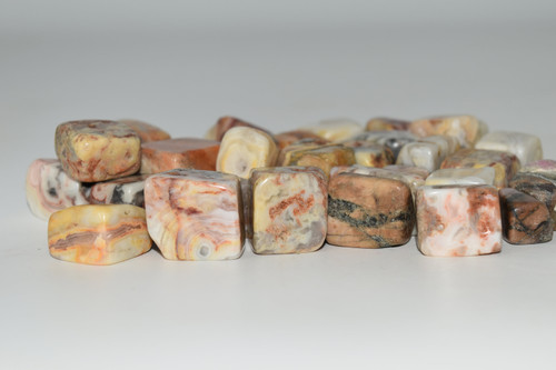 Yellow Lace Agate Crystal Tumbled 1 pc