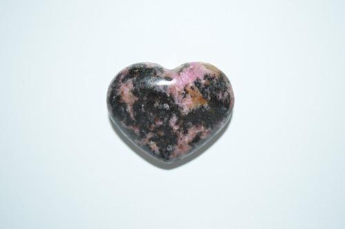 Rhodonite Crystal Heart Decor