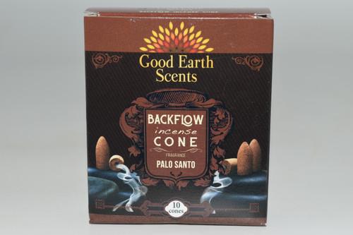 10pc Palo Santo Backflow Incense Cones - Good Earth Scents
