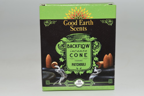 10pc Patchouli Backflow Incense Cones - Good Earth Scents