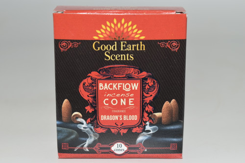 10pc Dragon's Blood Backflow Incense Cones - Good Earth Scents