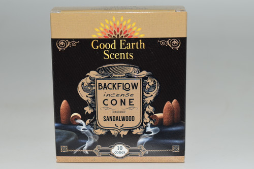 10pc Sandalwood Backflow Incense Cones - Good Earth Scents