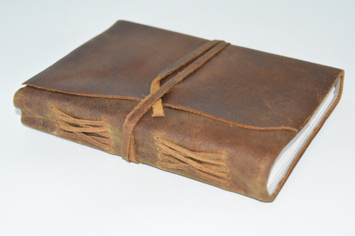 Plain Leather Wrap Journal Notebook