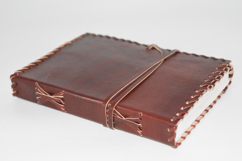 Laced Leather Wrap Journal Notebook