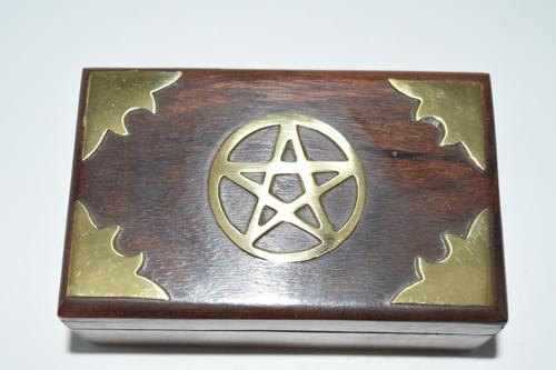 Star Inlaid Box- Rosary Bead Box, Crystals, Altar Supplies, Gift Giving