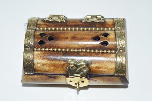 Plain Bone Box- Rosary Bead Box, Crystals, Altar Supplies, Gift Giving