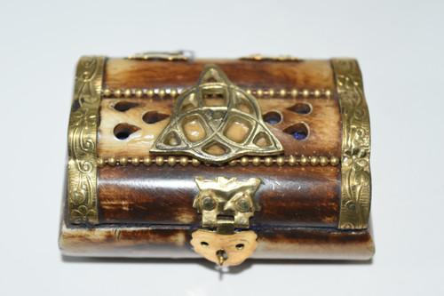 Triquetra Bone Box- Rosary Bead Box, Crystals, Altar Supplies, Gift Giving