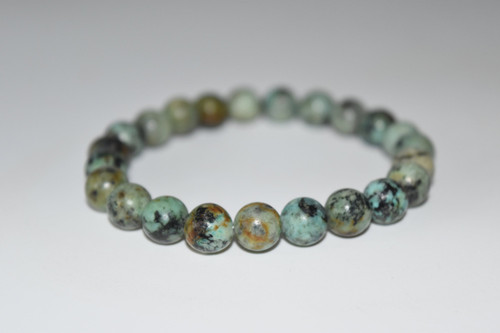 African Turquoise Crystal Bracelet 8mm
