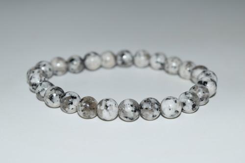 Dalmatian Jasper Crystal Bracelet 8mm
