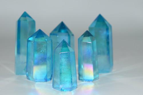 Aqua Angel Aura Quartz Point Crystal