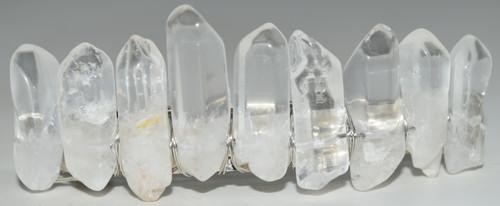 Clear Opal Angel Aura Quartz Stone Hair Clip Barrette Angel Aura Quartz  Crystal