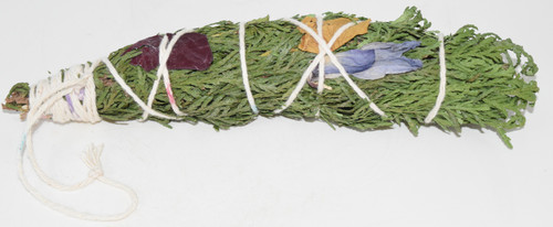 XL Cedar and Rosemary with Flowers Luxury Smudge Bundle-  - Blessings, Clear Negative Energies, Smudge, Healing