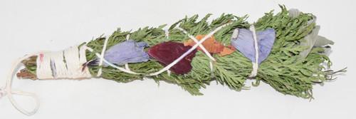 XL Rosemary, Cedar, White Sage, Flowers Luxury Smudge Bundle- Incense Bundle