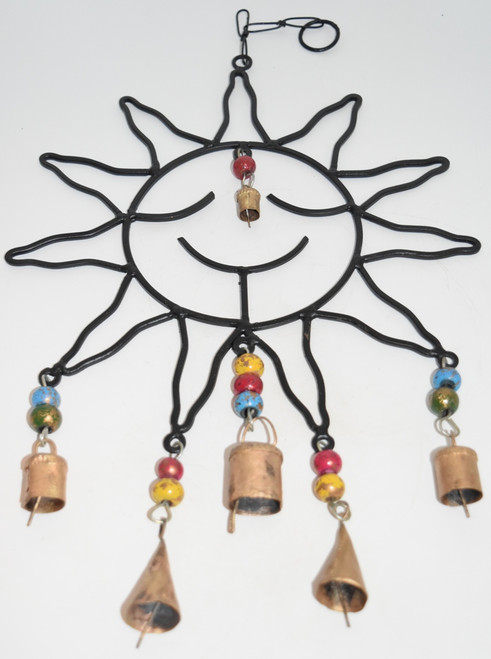 Smiling Sun Wind Chime- Wind Chimes, Bells