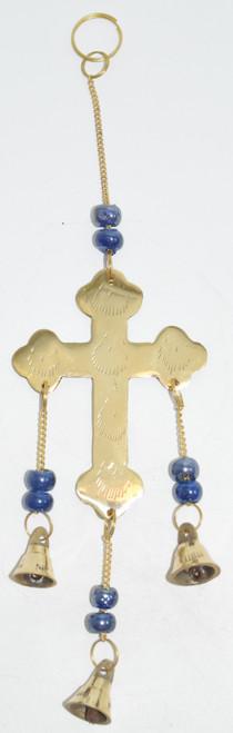 Brass Cross Wind Chime- Wind Chimes, Bells