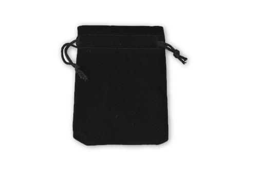 Black Velvet Pouch 2 pc- Crystal Carrying Bag, Bag, Pouch
