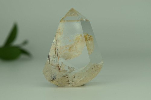 111g Yellow Hair Rutiliated Inclusions Quartz Crystal
