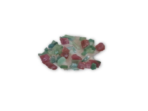 10g Gem Quality Pink and Green Tourmaline Mix