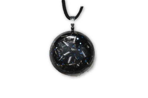 Blue Glitz Orgone Pendant -Quartz Crystal, Pyrite, Blue Kyanite