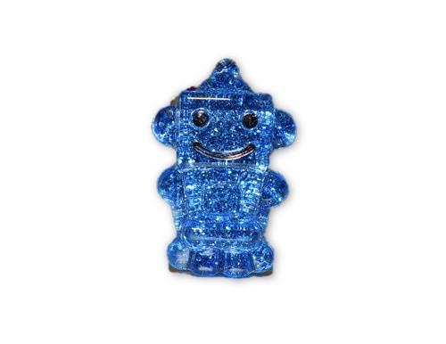 Orgone Blue Robot Mini Boy 1 pc -Quartz Crystal, Pyrite, Blue Kyanite