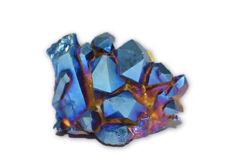 107g Rainbow Angel Aura Quartz Crystal Cluster