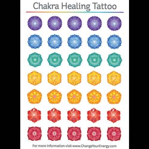 Chakra Healing Temporary Tattoo