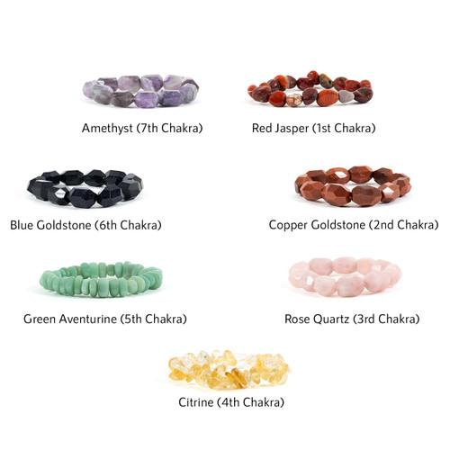 Chakra Bracelet Nugget Bead