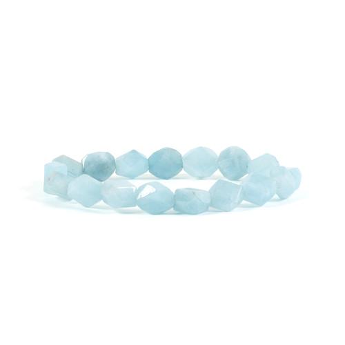 Aquamarine Bracelet - Nugget (8mm beads)