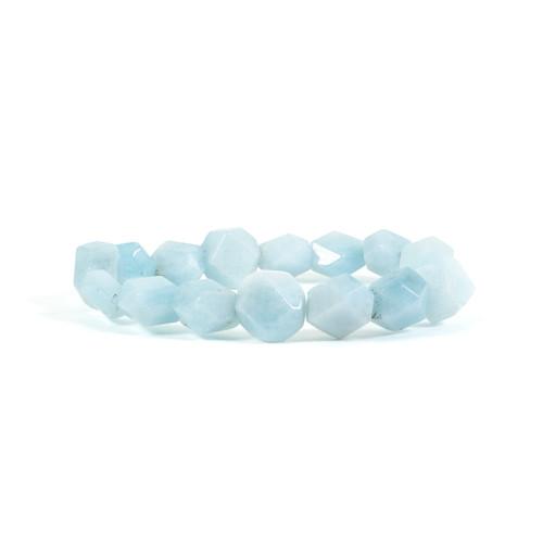 Aquamarine Bracelet - Nugget (10mm beads)