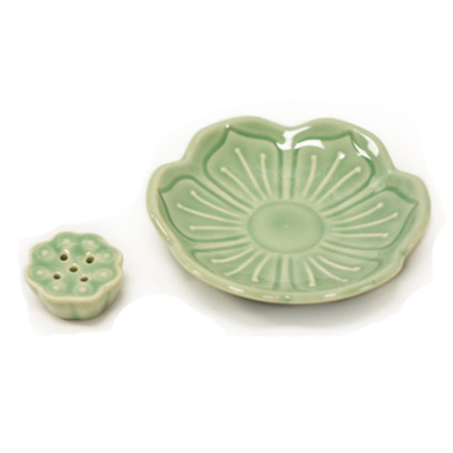 Lotus Leaf Incense Holder (5 holes)
