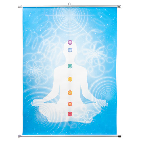 "Solar Body Chakra Banner Wall Scroll (Medium - 27.5"" x 37"")"