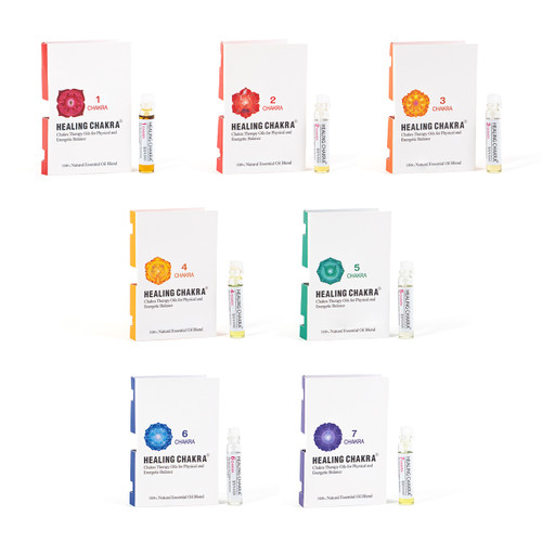 Chakra Oil Miniature Set of Seven (One of each: #1- #7)