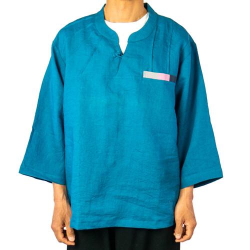 Triple Block Linen Shirt (Unisex)