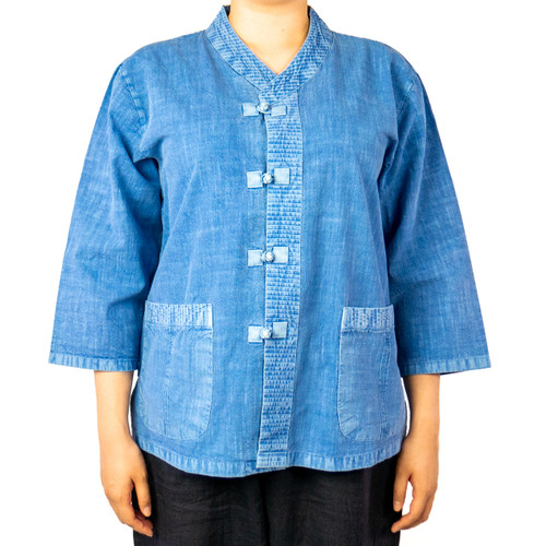 Button-Down Cotton Tai Chi Uniform Shirt (Unisex)