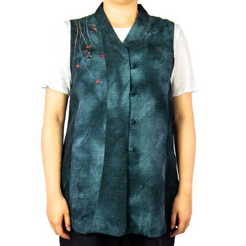 Women's Flower Crush Tie-Dye Vest