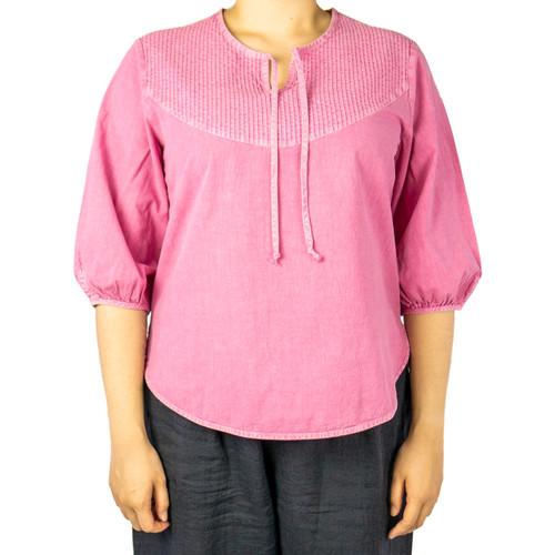 Women's Drawstring Cotton Shirt