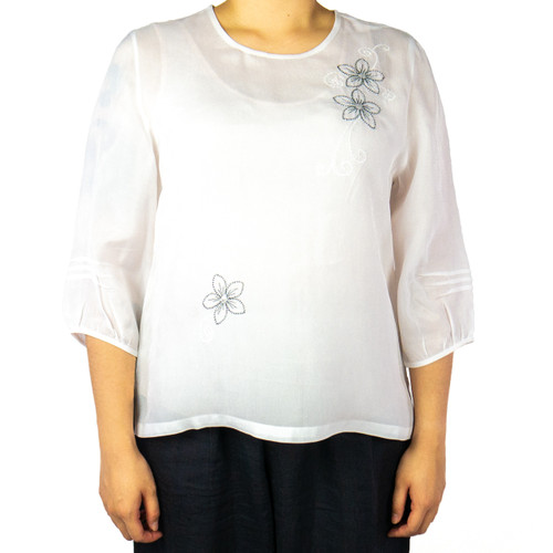 Women's Floral Embroidery Top