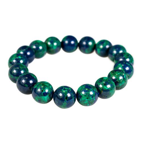 Azurite Bracelet - 10mm Round Bead