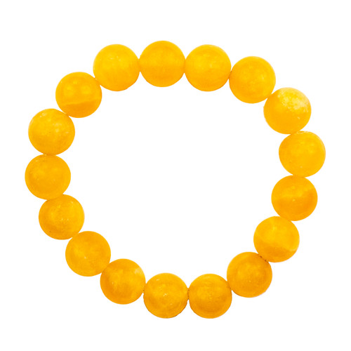Yellow Calcite Bracelet - 10mm Round Bead