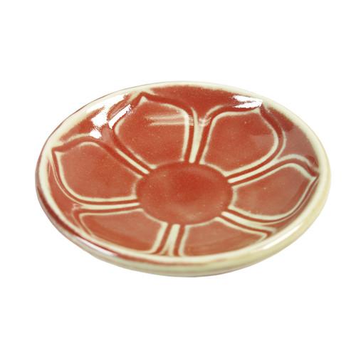 Red Lotus Leaf Incense Holder (1 Hole)