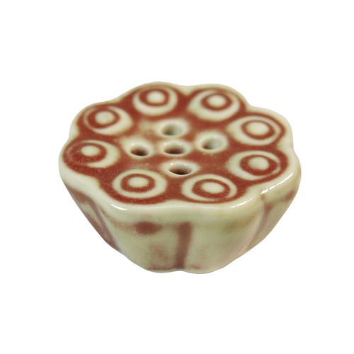 Red Lotus Leaf Incense Holder (5 holes)